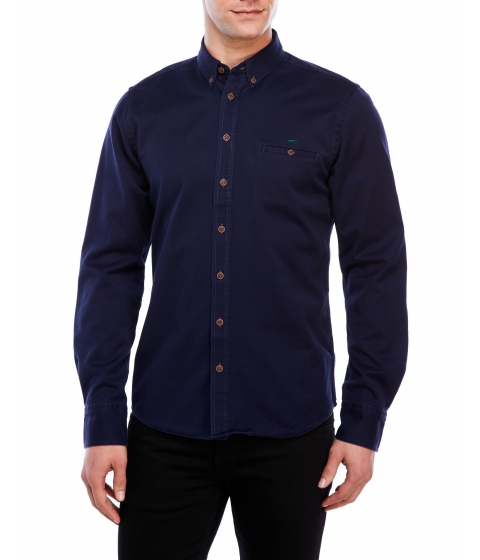 Imbracaminte Barbati Moods of Norway Alex Vik Elbow Patch Twill Shirt Evening Blue