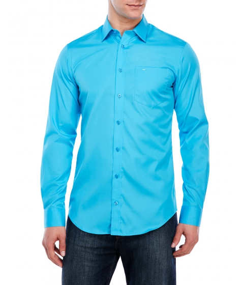 Imbracaminte Barbati Moods of Norway Kristian Vik New Casual Woven Shirt Turquoise