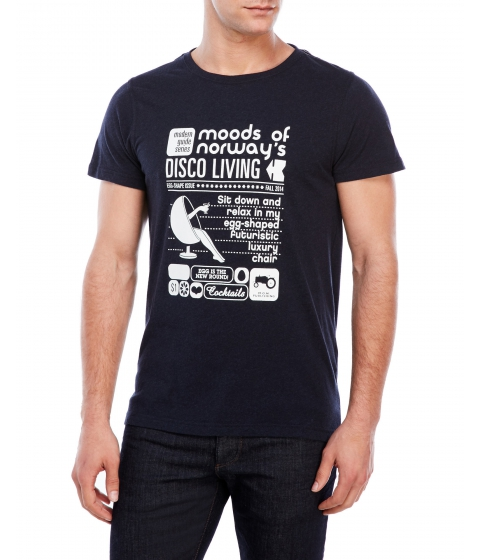 Imbracaminte Barbati Moods of Norway Tor Bjarne Lind Tee Dark Navy