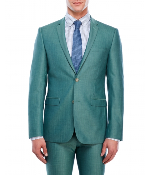 Imbracaminte Barbati Moods of Norway Stein Tonning Herringbone Sport Coat Aqua Green