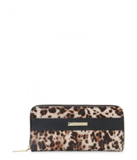 Genti Femei Anne Klein Leopard Print Kick Start Zip Wallet Naturalmulti Blk