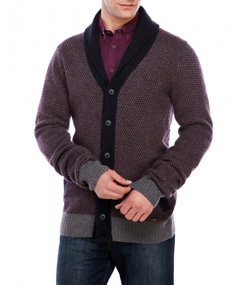 Imbracaminte Barbati Moods of Norway Henrik Loen Wool Cardigan Burgundy