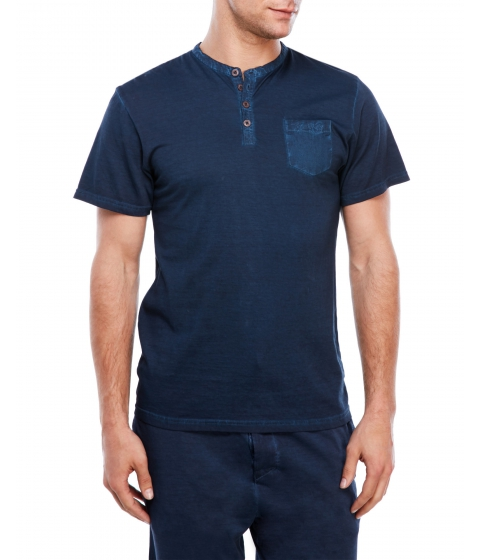 Imbracaminte Barbati Kenneth Cole New York Short Sleeve Henley Navy