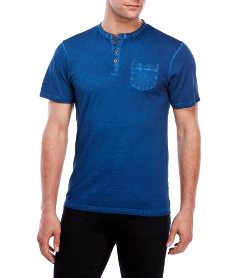 Imbracaminte Barbati Kenneth Cole New York Short Sleeve Henley Dark Blue