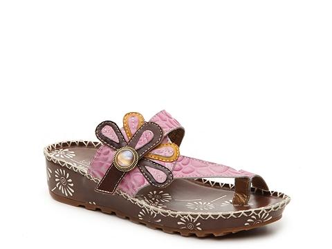 Incaltaminte Femei Spring Step Florentina Wedge Sandal BrownLight Pink