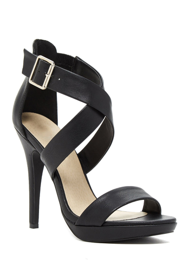 Incaltaminte Femei Michael Antonio Luckey Heeled Sandal Black