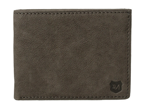 Genti Barbati Marc New York by Andrew Marc Grove Leather Slimfold Wallet Charcoal