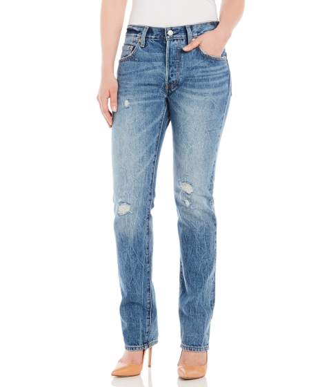 Imbracaminte Femei Levi's 501 Destroyed Straight Leg Jeans Light Sky