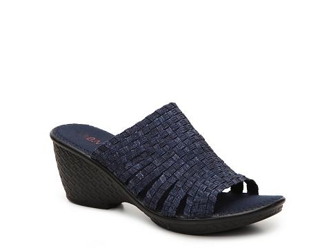 Incaltaminte Femei Bernie Mev Kent Denim Wedge Sandal Blue Jeans