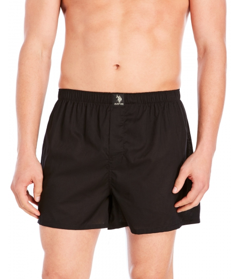 Imbracaminte Barbati US Polo Assn 3-Pack Woven Boxers Black Blue Royal