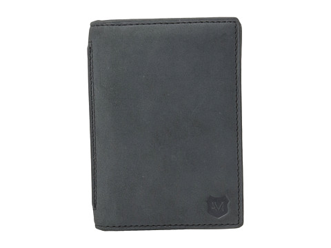 Genti Barbati Marc New York by Andrew Marc Warren Leather Carryall Wallet Charcoal