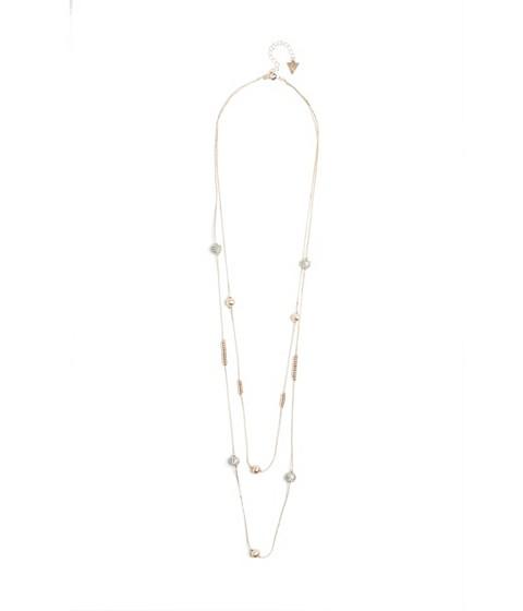 Bijuterii Femei GUESS Rose Gold-Tone Beaded Fireball Necklace rose gold