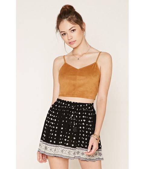 Imbracaminte Femei Forever21 Floral Medallion Mini Skirt Blackcream