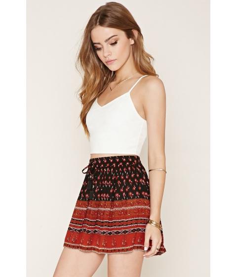 Imbracaminte Femei Forever21 Floral Print Crepe Skirt Blackrust