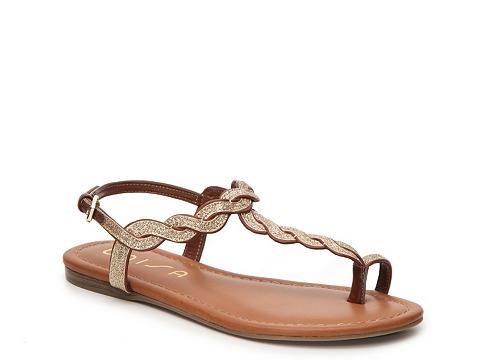 Incaltaminte Femei Unisa Luzala Flat Sandal GoldBrown