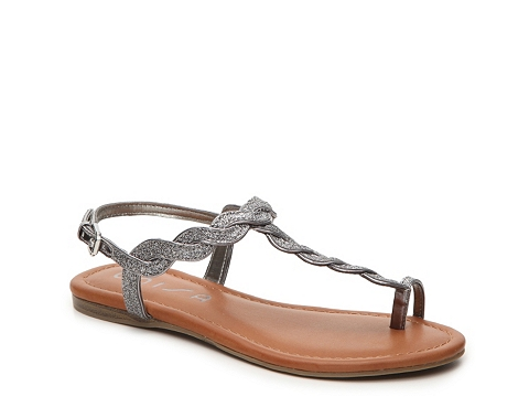 Incaltaminte Femei Unisa Luzala Flat Sandal PewterBrown