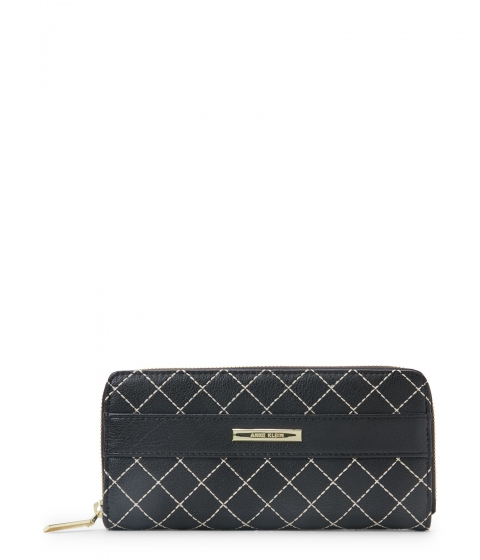 Genti Femei Anne Klein Black Style Remix Zip Wallet Black