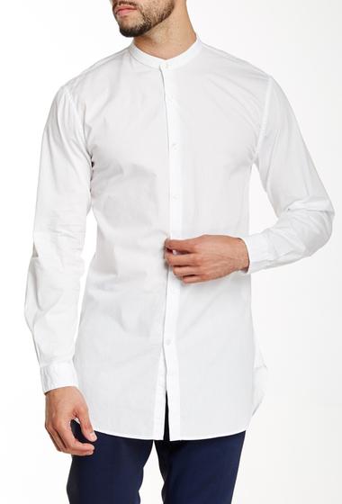 Imbracaminte Barbati Lindbergh Grandad Collar Longline Shirt White