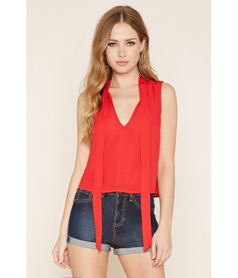 Imbracaminte Femei Forever21 Tie-Neck Top Red