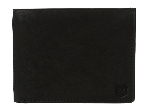 Genti Barbati Marc New York by Andrew Marc Sheridan Leather Slimfold Wallet Black