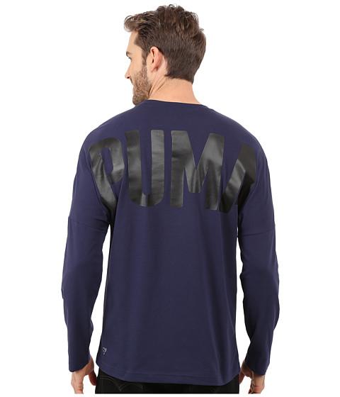 Imbracaminte Barbati PUMA Evo Bold Logo Long Sleeve Tee Peacoat