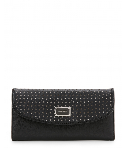 Genti Femei Nine West Black For The Picnic Flap Wallet Black Black
