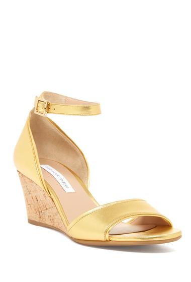 Incaltaminte Femei Diane Von Furstenberg Asti Wedge Sandal GOLD