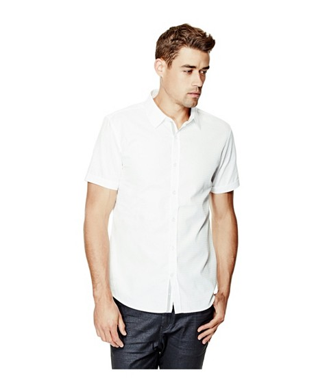 Imbracaminte Barbati GUESS Danilo Dobby Short-Sleeve Shirt true white