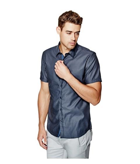 Imbracaminte Barbati GUESS Danilo Dobby Short-Sleeve Shirt ink