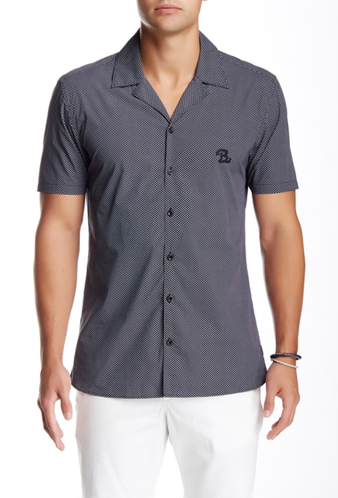 Imbracaminte Barbati Barney Cools Miami Short Sleeve Printed Shirt Black Ditzi