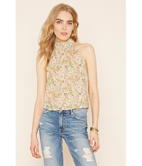 Imbracaminte Femei Forever21 Contemporary Floral Print Top Ivorygreen
