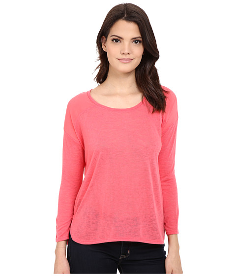 Imbracaminte Femei Calvin Klein 34 Sleeve Mixed Media Top Watermelon Sorbet