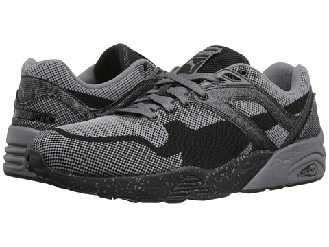 Incaltaminte Barbati PUMA R698 Knit Mesh Splatter BlackSteel Grey