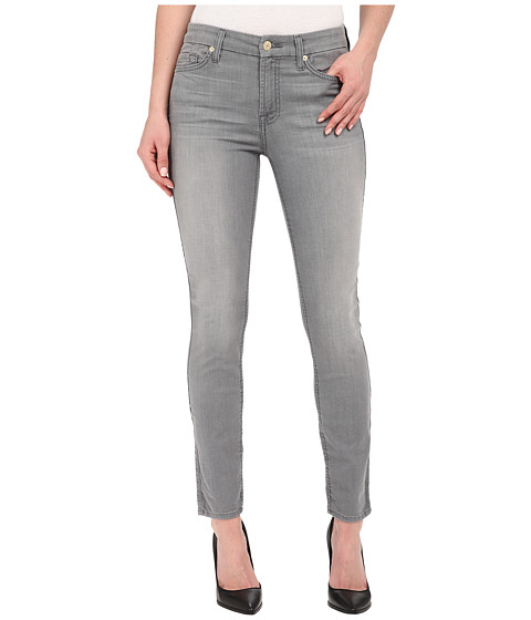 Imbracaminte Femei 7 For All Mankind The Ankle Skinny in Featherweight Grey Featherweight Grey