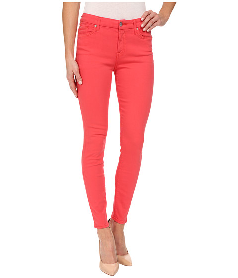 Imbracaminte Femei 7 For All Mankind The Mid Rise Ankle Skinny in Cherry Red Cherry Red