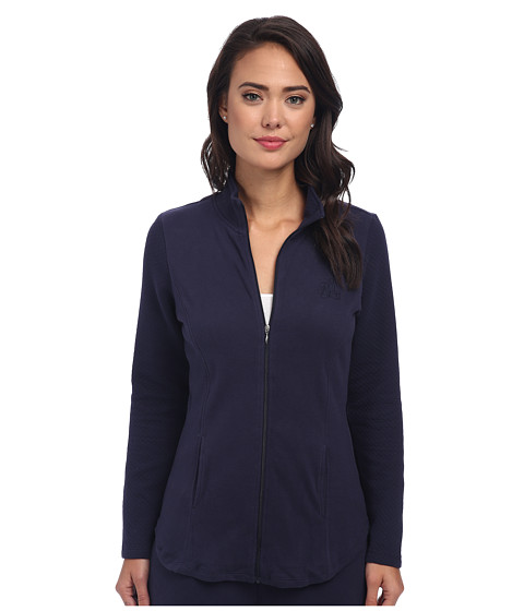 Imbracaminte Femei LAUREN Ralph Lauren Lounge Jacket with Quilted Sleeves Windsor Navy