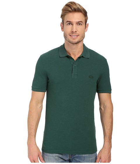 Imbracaminte Barbati Lacoste Short Sleeve Garment Dyed Slub Pique Polo Shirt Pine Wood Dyed