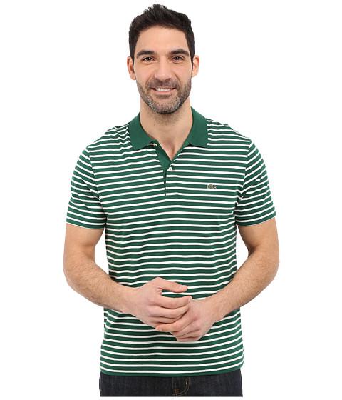 Imbracaminte Barbati Lacoste Classic Short Sleeve Jersey Stripe Pine WoodFlour