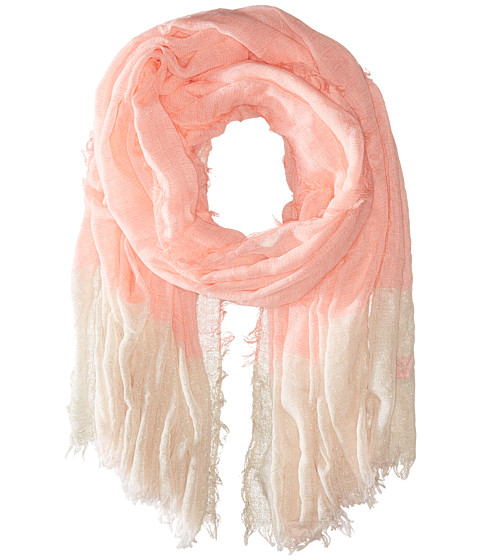 Accesorii Femei Betsey Johnson Good Vibes Crinkle Wrap with Lurex Neon Coral
