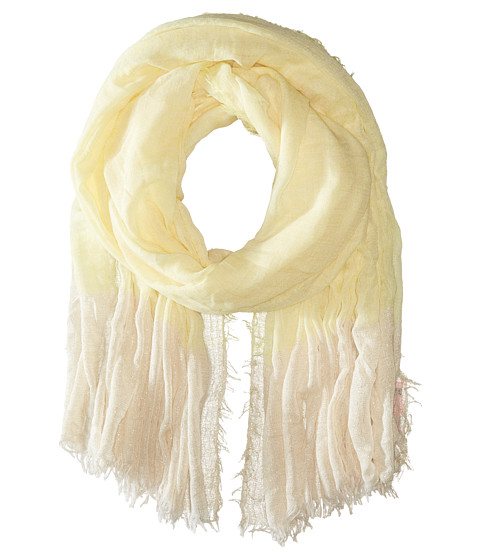 Accesorii Femei Betsey Johnson Good Vibes Crinkle Wrap with Lurex Yellow