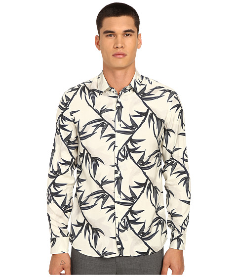 Imbracaminte Barbati Marc Jacobs Shadow Leaf Slim Button Up Off-White Multi