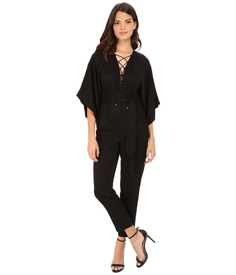 Imbracaminte Femei Rachel Zoe Mirabel Lace Up Jumpsuit Black