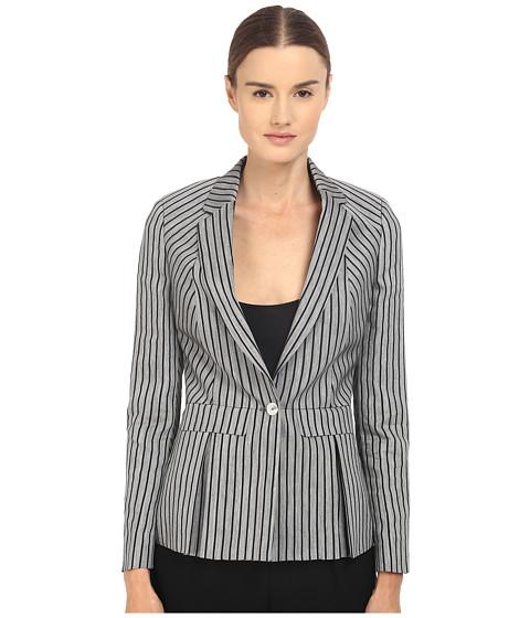 Imbracaminte Femei Paul Smith Black Label Horizontal Stripe Blazer GreyNavy