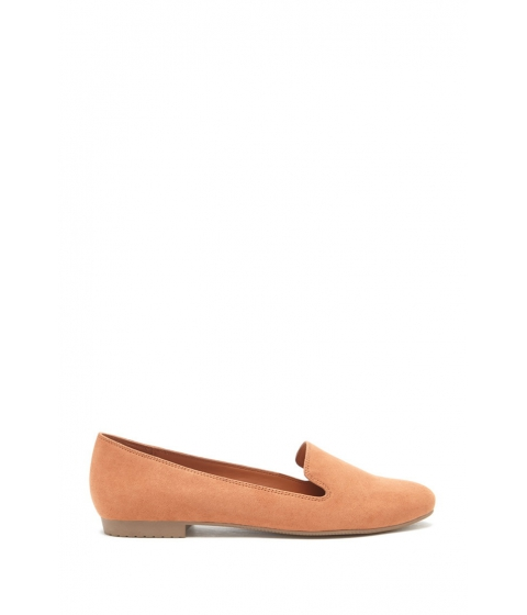 Incaltaminte Femei Forever21 Faux Suede Loafers Apricot