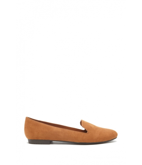 Incaltaminte Femei Forever21 Faux Suede Loafers Camel