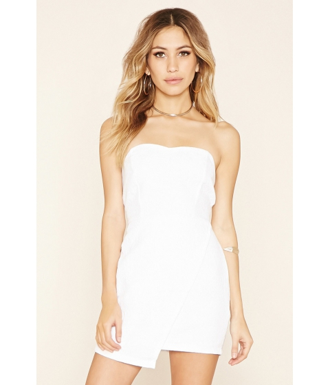 Imbracaminte Femei Forever21 Quilted Asymmetrical Dress White