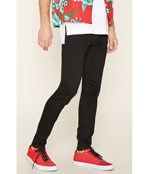Imbracaminte Barbati Forever21 Clean Wash Skinny Jeans Black