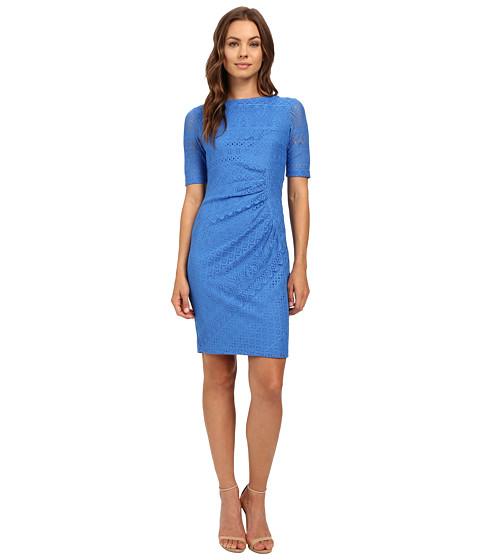 Imbracaminte Femei London Times Multi Media Stripe Side Drape Dress Blue