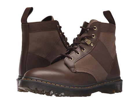 Incaltaminte Barbati Dr Martens Beam 6-Tie Boot Dark BrownTan Waxy CanvasFinoil