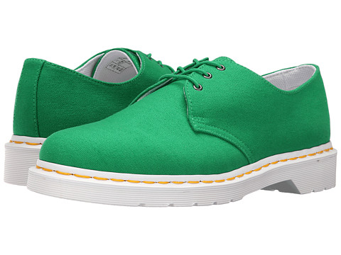 Incaltaminte Barbati Dr Martens Lester 3-Eye Shoe Canvas Green Canvas